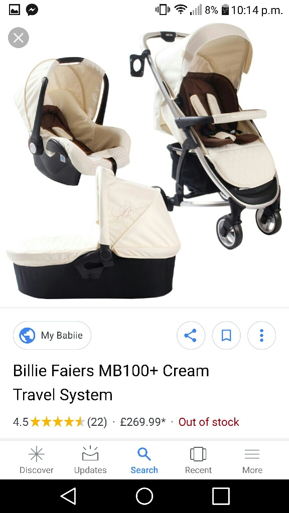 My babiie pram and carry cot (no carseat)