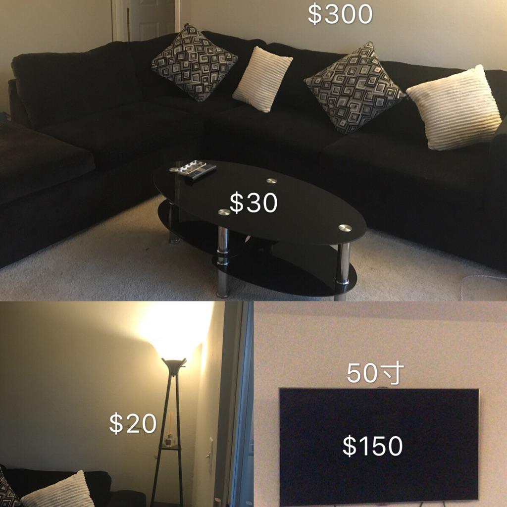 sofa coffee desk floor lamp
