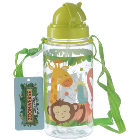 Funky zoo animals design 450ml children's water bottle
