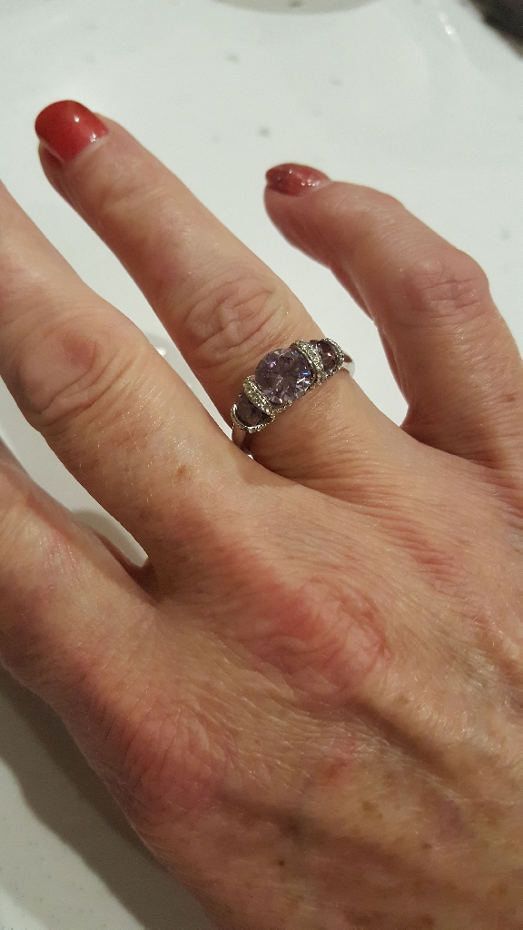 QVCdiamomique sterling silver ring