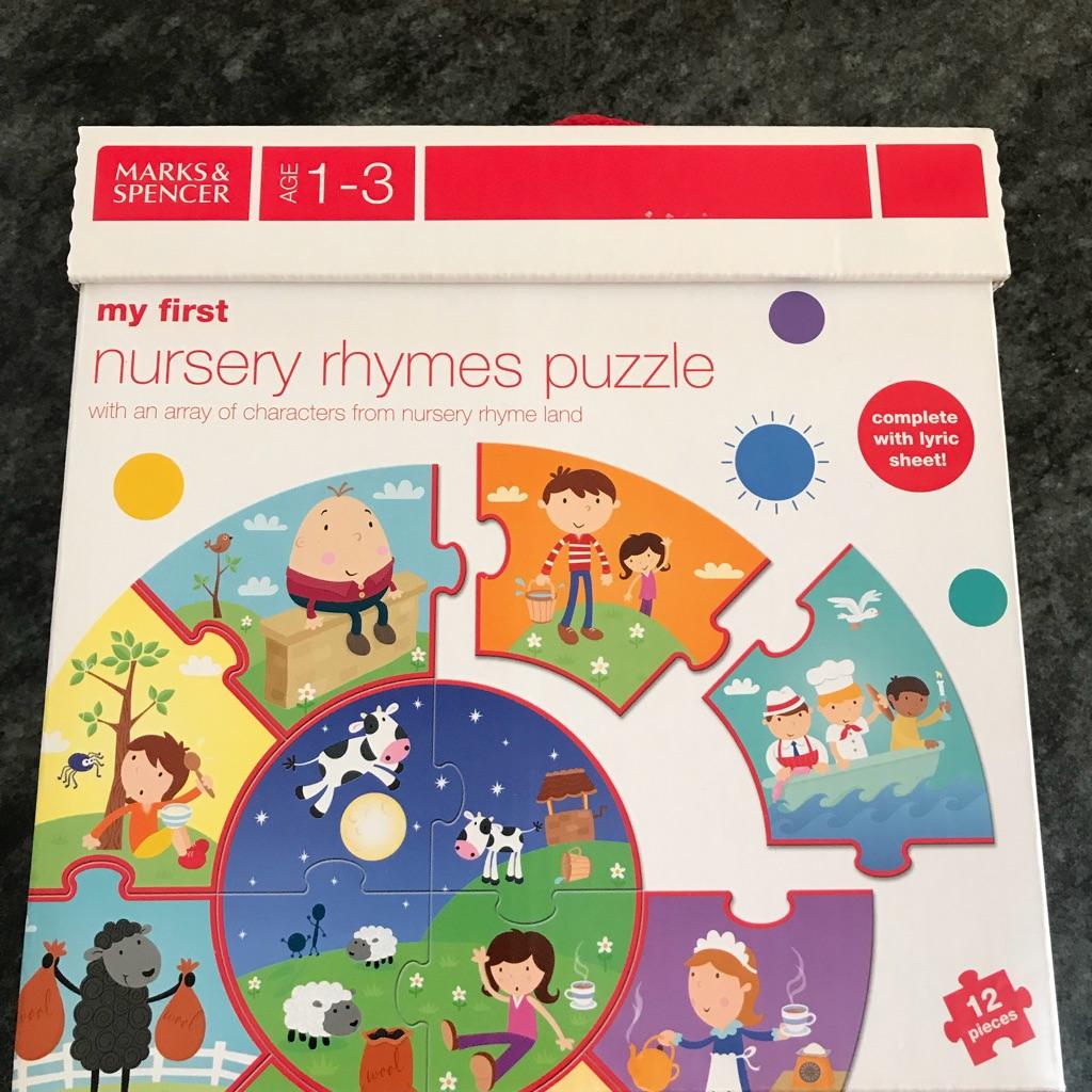 M and S nursery rhyme puzzle BNIB