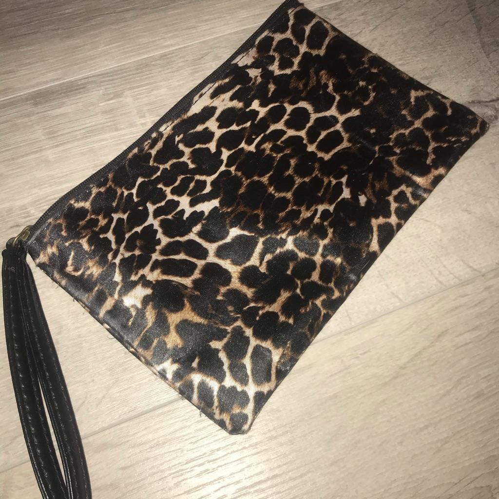Leopard print wristlet by next