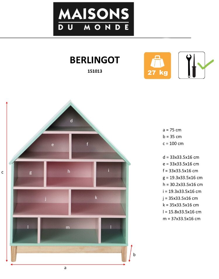 House-shaped storage / bookcase