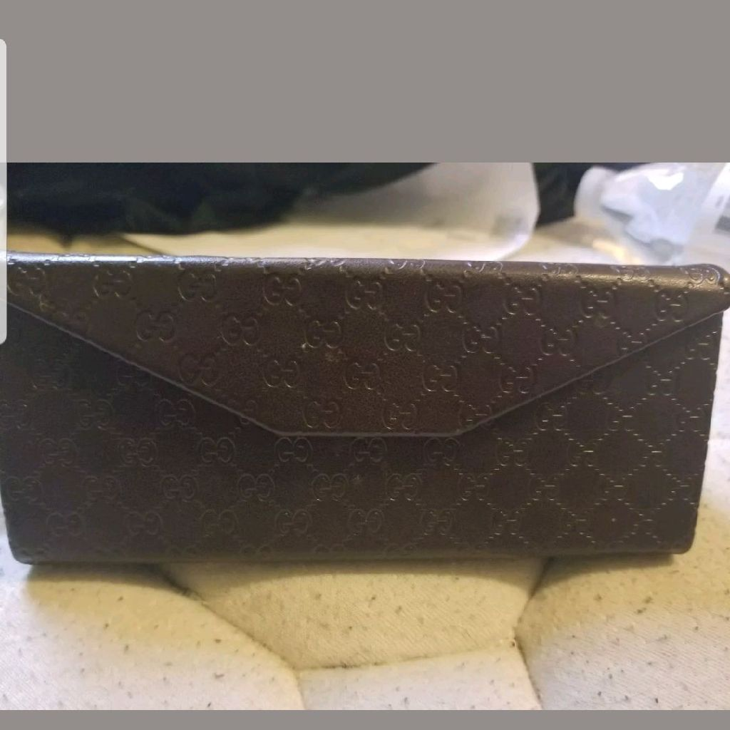 Leather Gucci sunglass case
