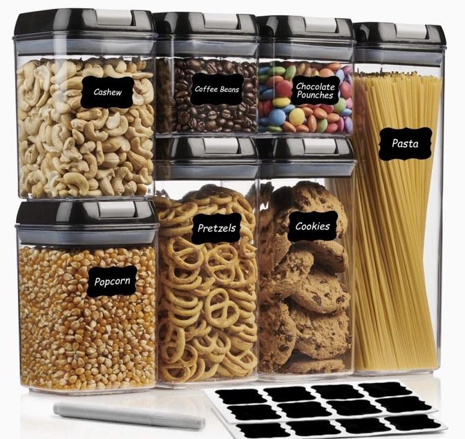Kitchen storage container set