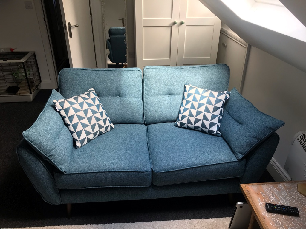New French Connection 2 seat sofa with cushions