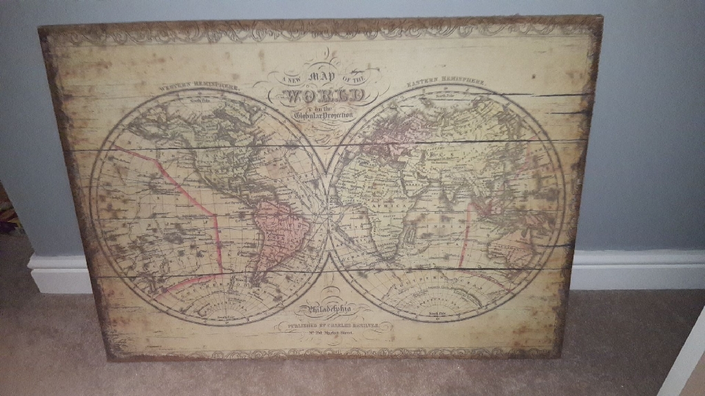MAP / GLOBE WALL CANVAS