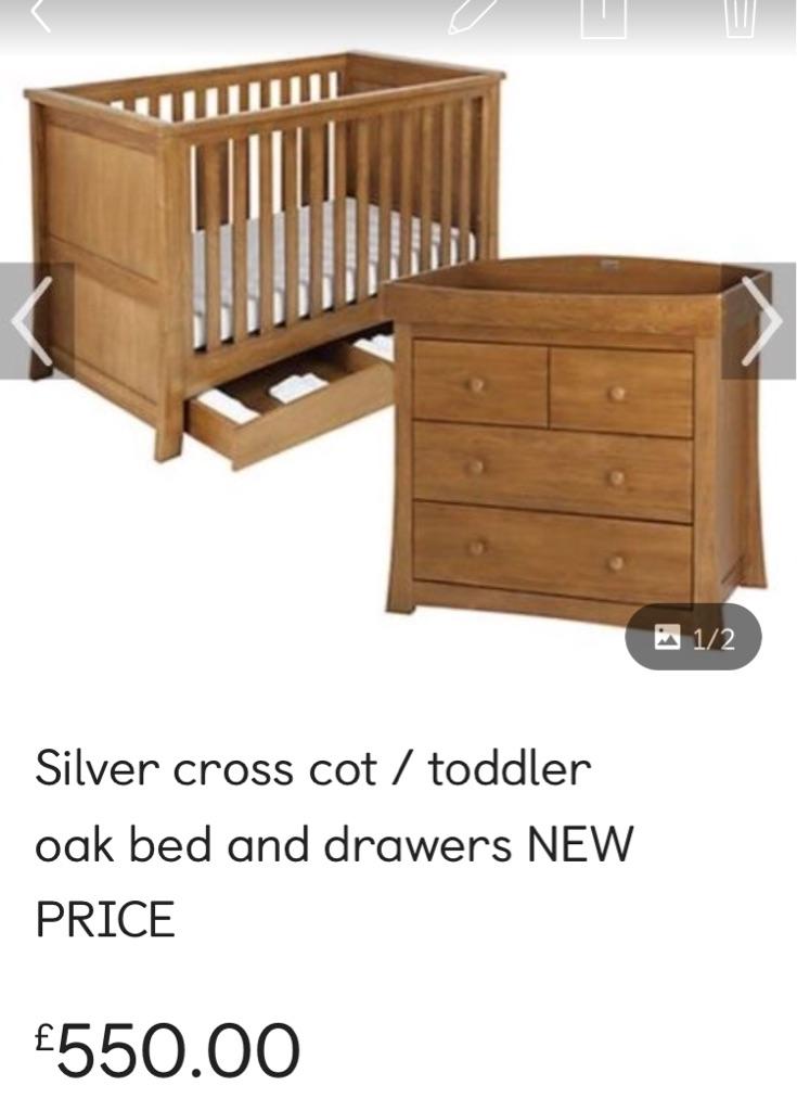 Silver cross oak nursery furniture