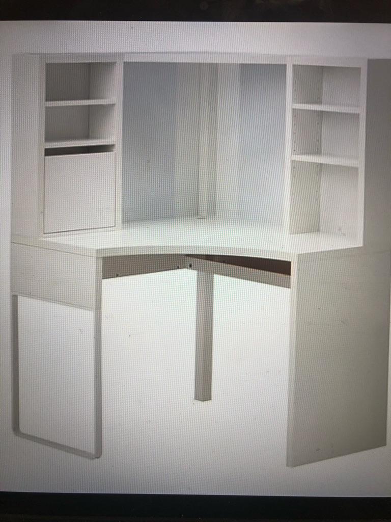 Ikea corner workstation