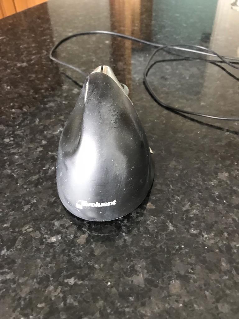 Black Right Handed Ergonomic Mouse