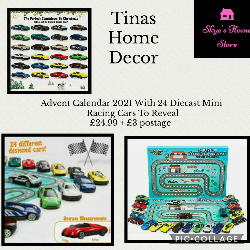 Advent Calendar 2021 With 24 Diecast Mini Racing Cars To Reveal