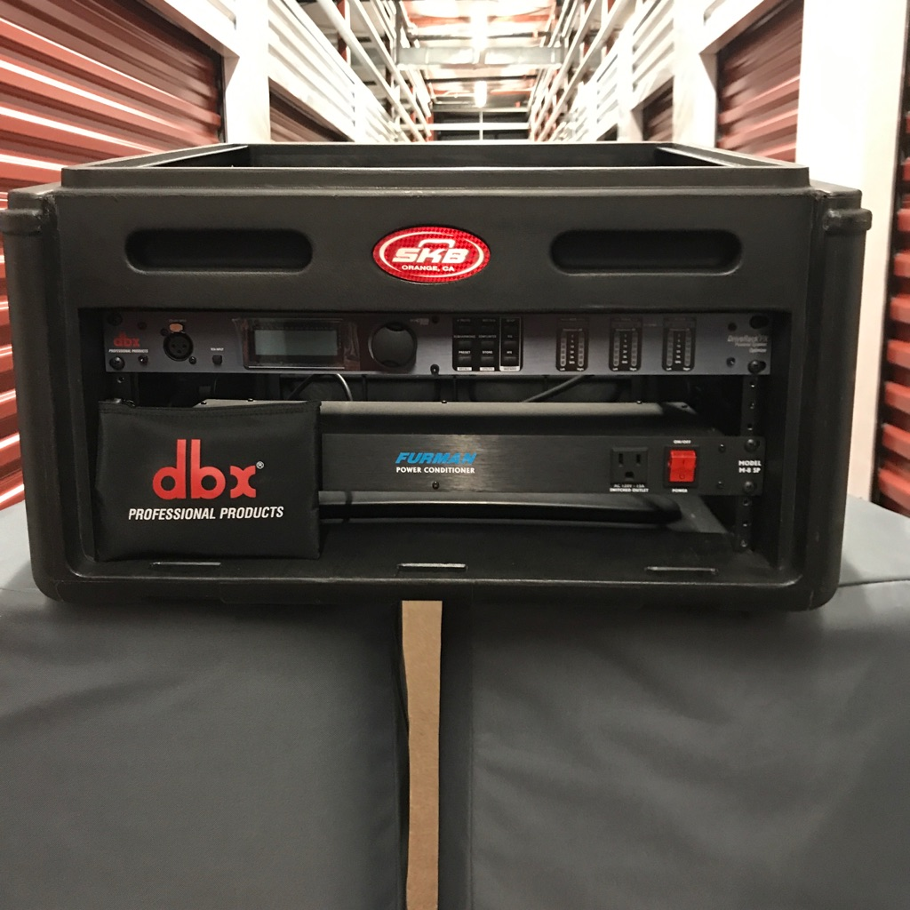 SKB 6 Space Rack Box w/dbx Drive Rack and Furman Power Conditioner