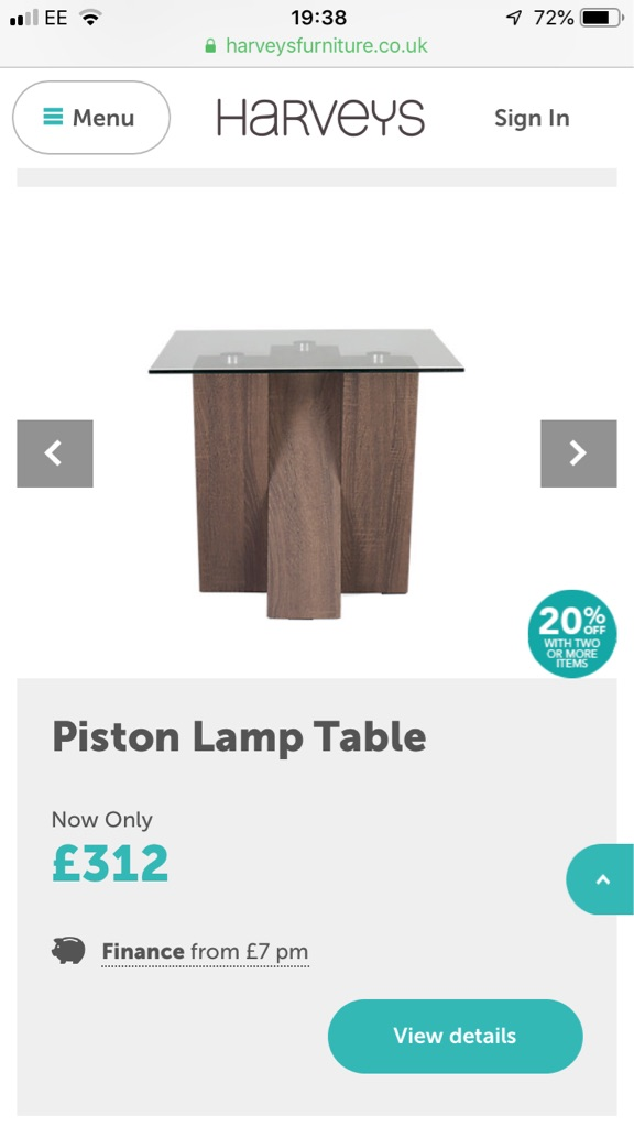 Piston Table solid oak