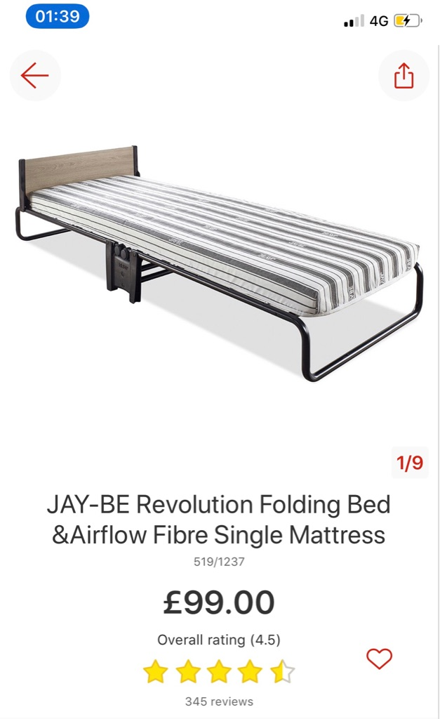 JAY-BE Revolution Folding Bed