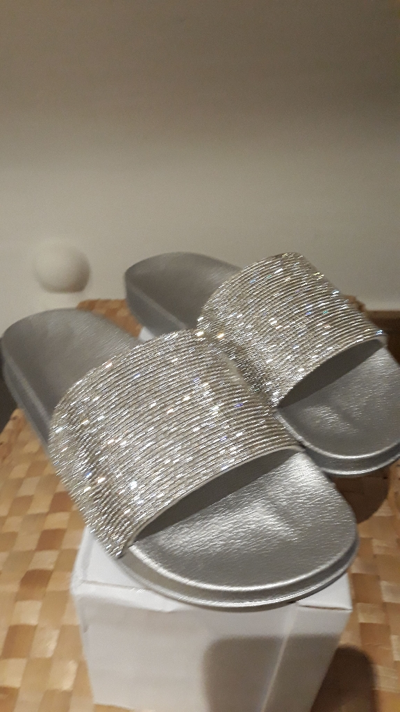 Silver sandals 8