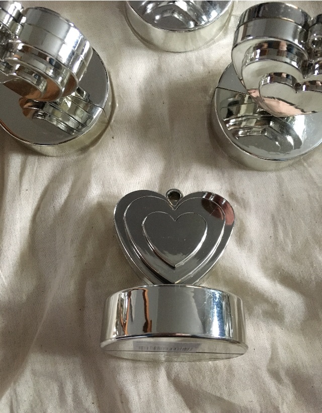 Silver balloon weights