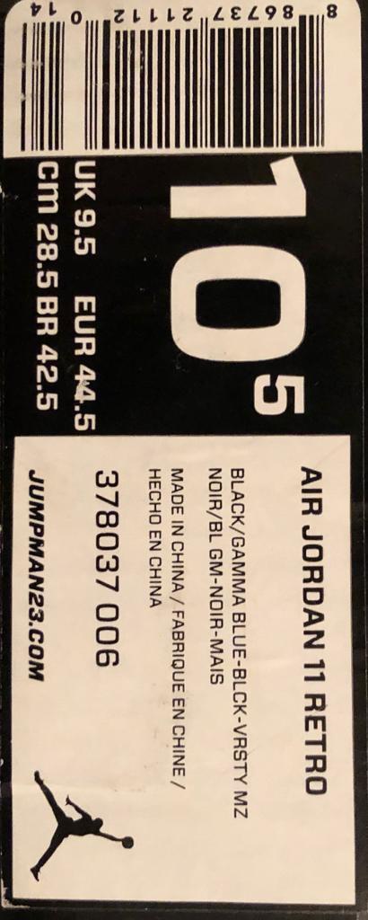 4b2aa64bd06619 Air Jordan 11  Gamma Blue  2013 UK9.5 - Only Worn A Few Times