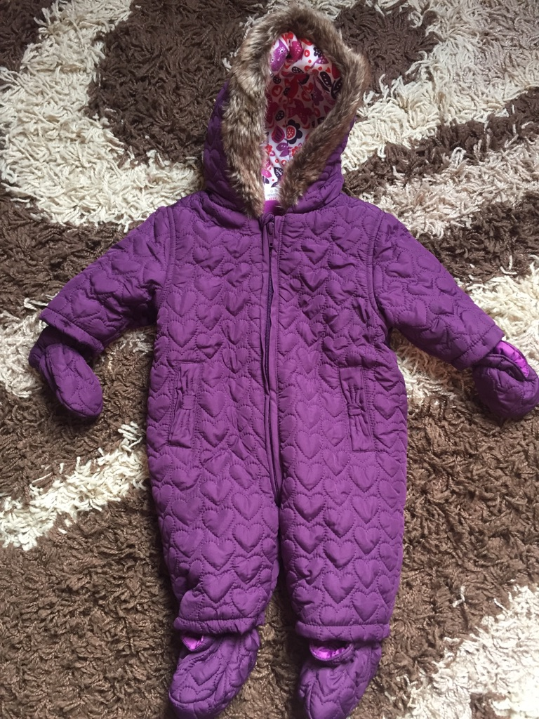 Purple Snowsuit 0-3 Months