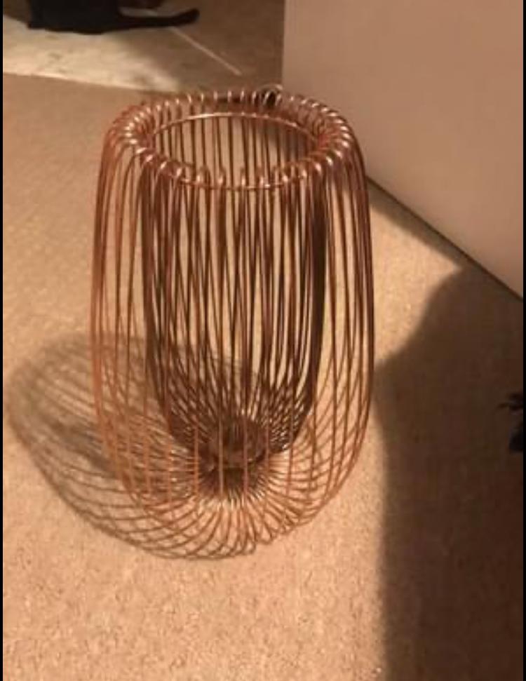 Copper ceiling light shade