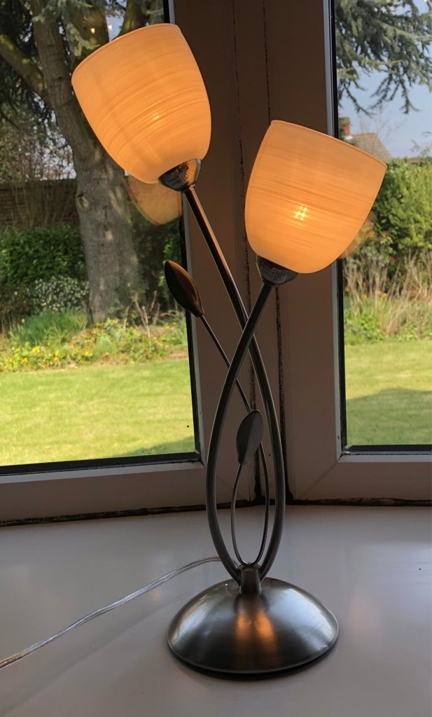 JOHN LEWIS AMARA 2 LIGHT TOUCH LAMP