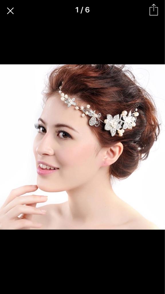 Stunning crystal hair vine free postage