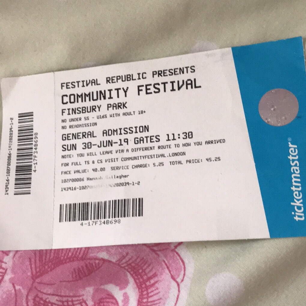 Community festival ticket