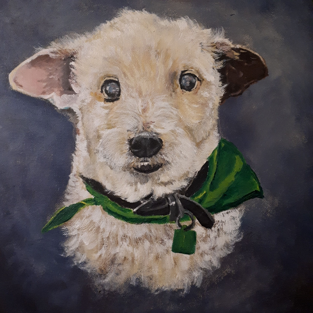 Pet portraits. Acrylic on canvas.