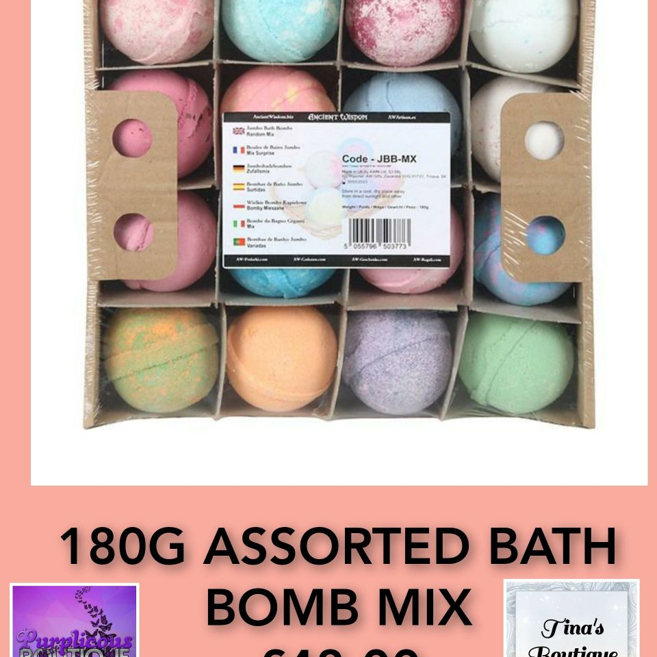180G ASSORTED BATH BOMB MIX