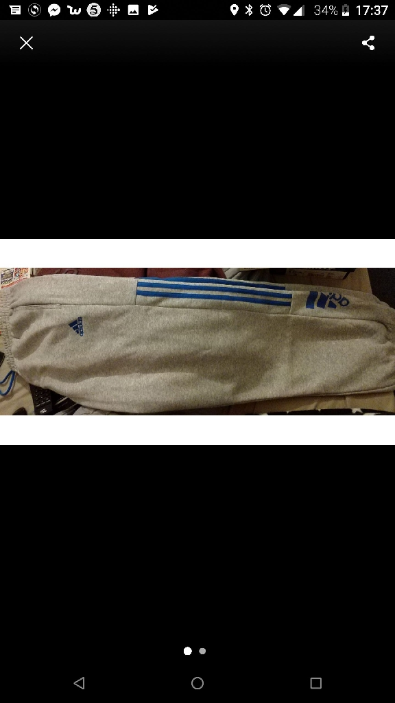 Mens size large adidas bottoms bnwt