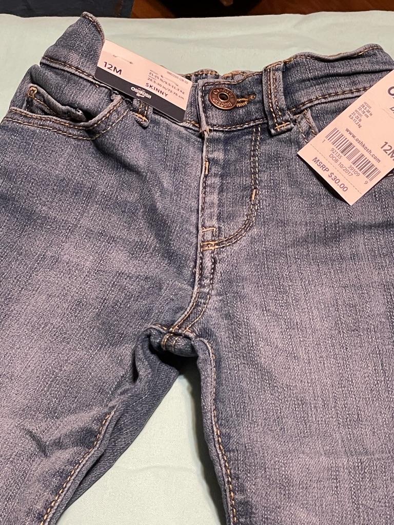 OshKosh Girls Skinny Jeans Size 12M