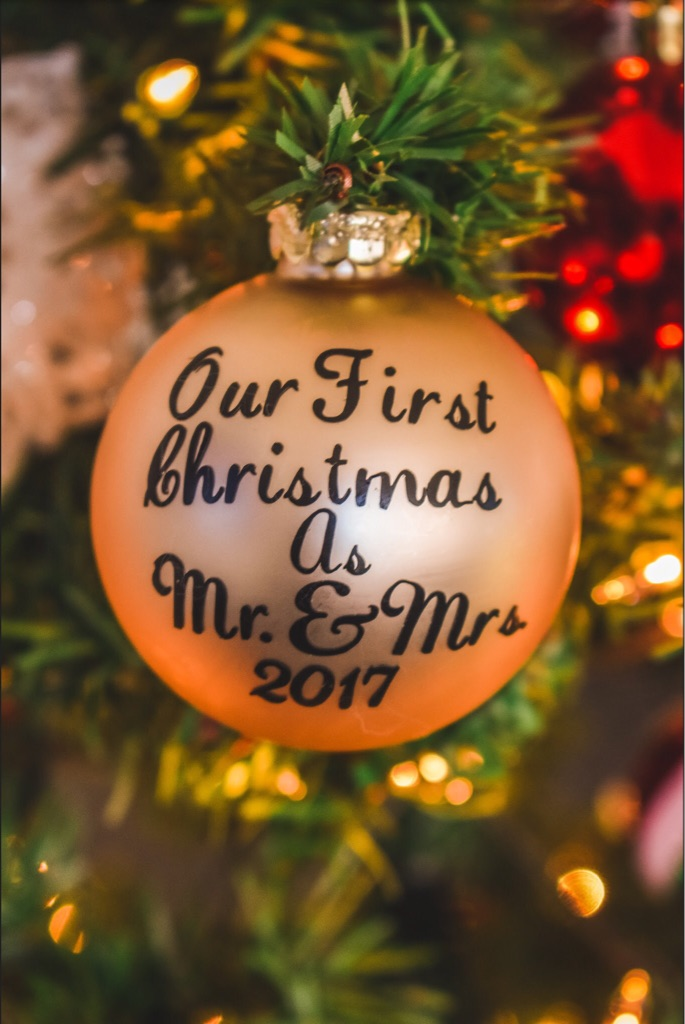Custom Made Our First Christmas Ornaments