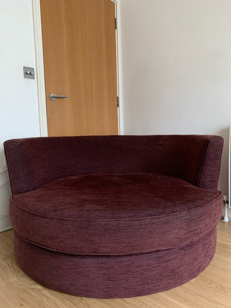 Round Cuddle Sofa Chair - ON OFFER - COLLECTION ASAP