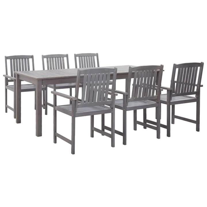 7 PIECE SOLID ACACIA WOOD OUTDOOR DINING SET ⭐️