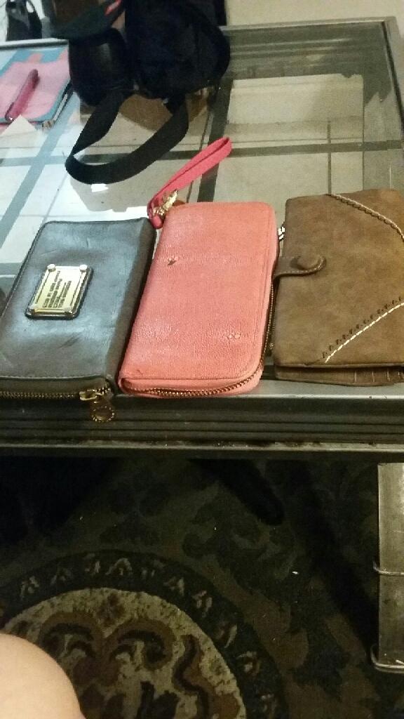 (3) womens wallets