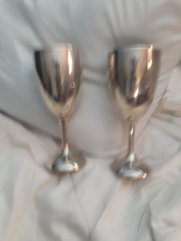 Silver Plated goblets