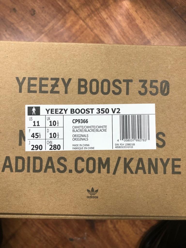 Adidas Yeezy Boost 350 V2 Size UK 10.5
