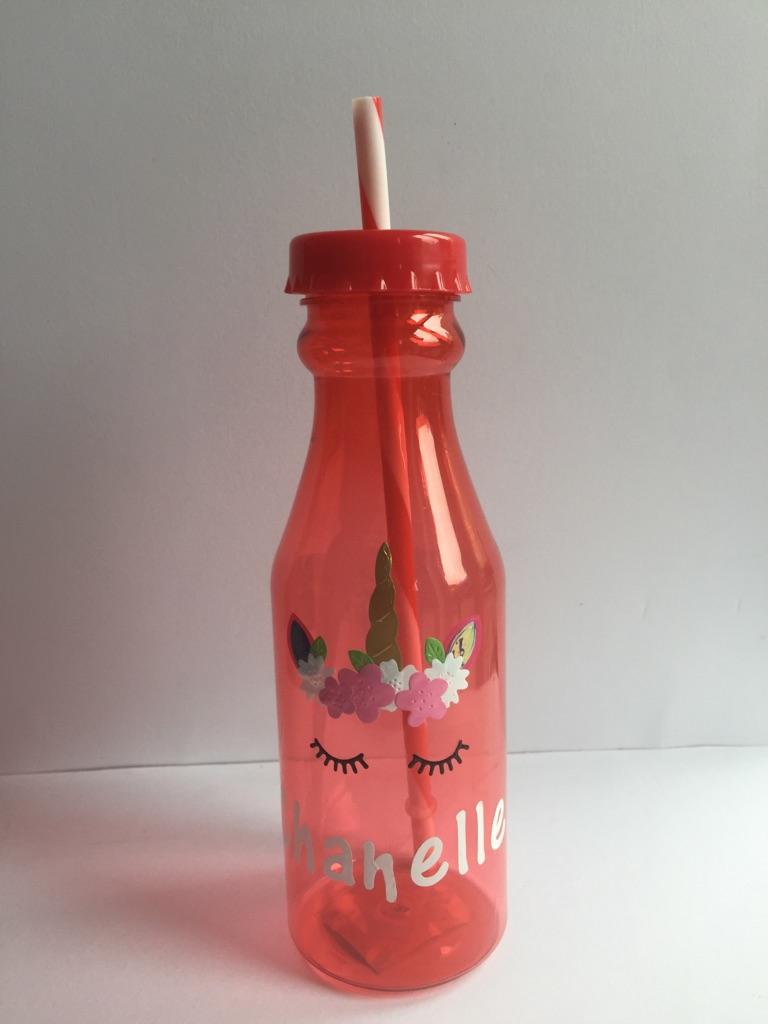 Personalised Unicorn juice bottles