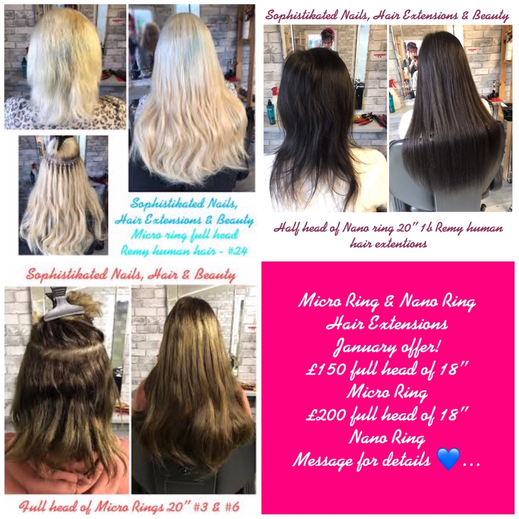 Micro and Nano Ring Hair Extensions Valentine Offers!