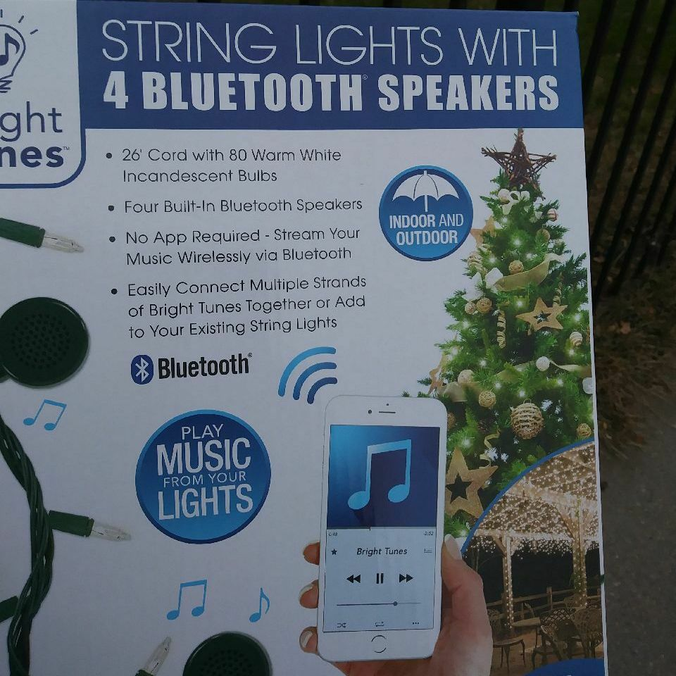 Christmas lights with BlueTooth speakers