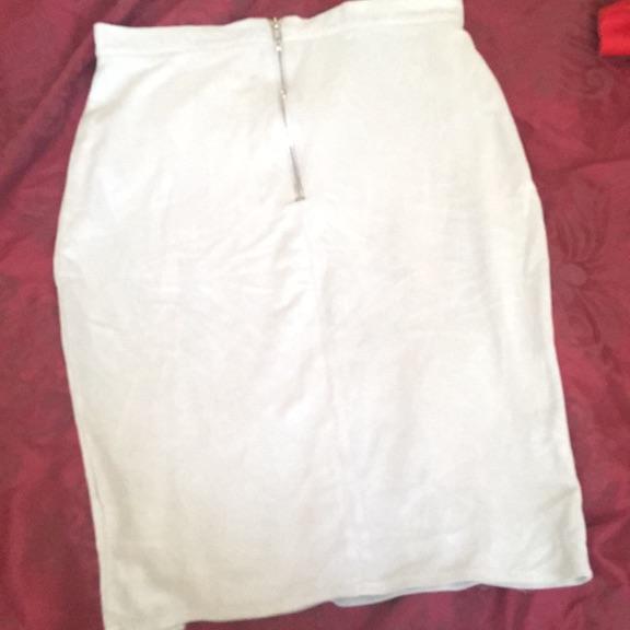 Grey/bluey skirt with slit