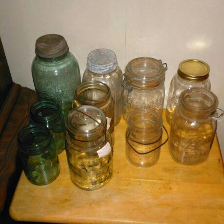Ball mason jars and misc