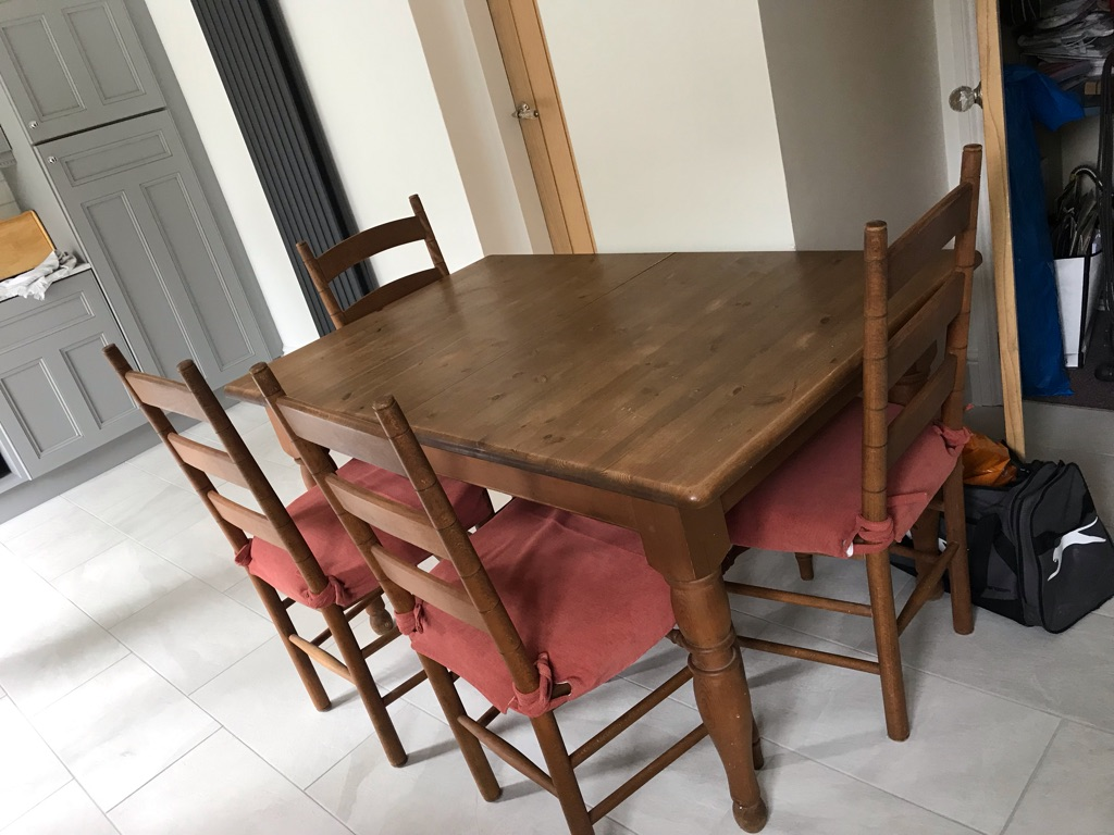 M&S Kitchen Dining Table with 4 Chairs