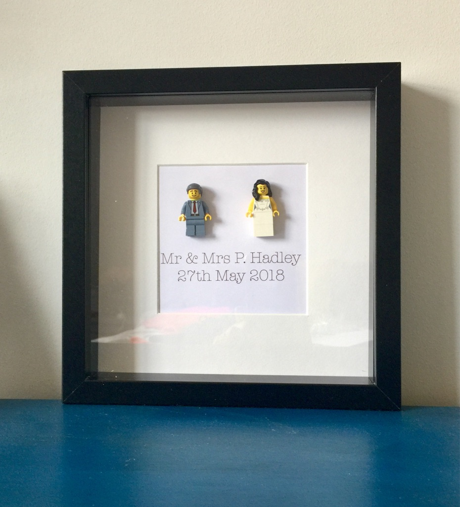 Personalised frames with Lego style characters
