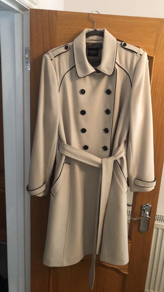 Women's military style topcoat