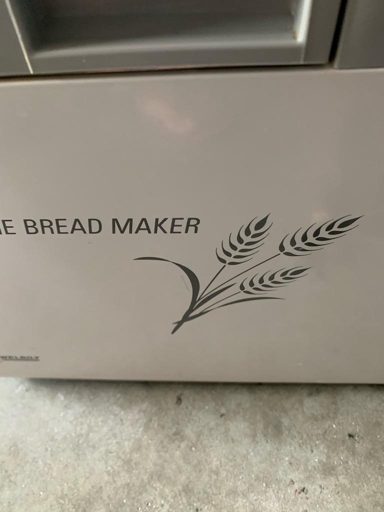 Bread machine welbilt
