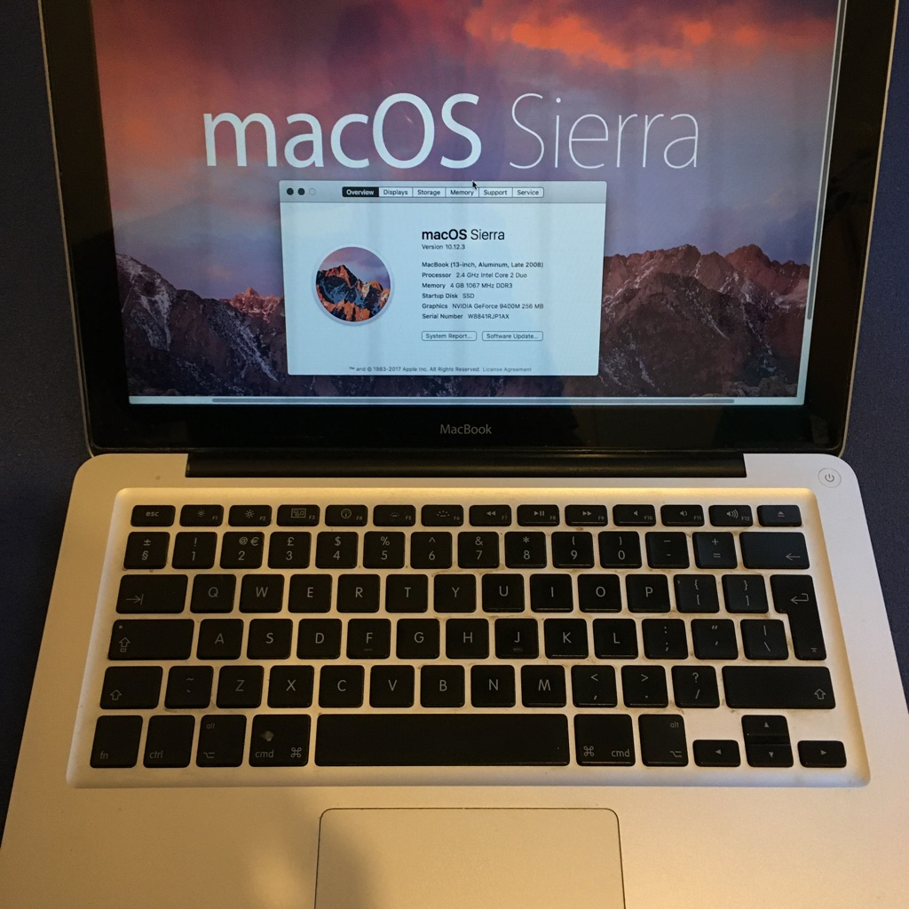 Macbook 5,1 Sierra
