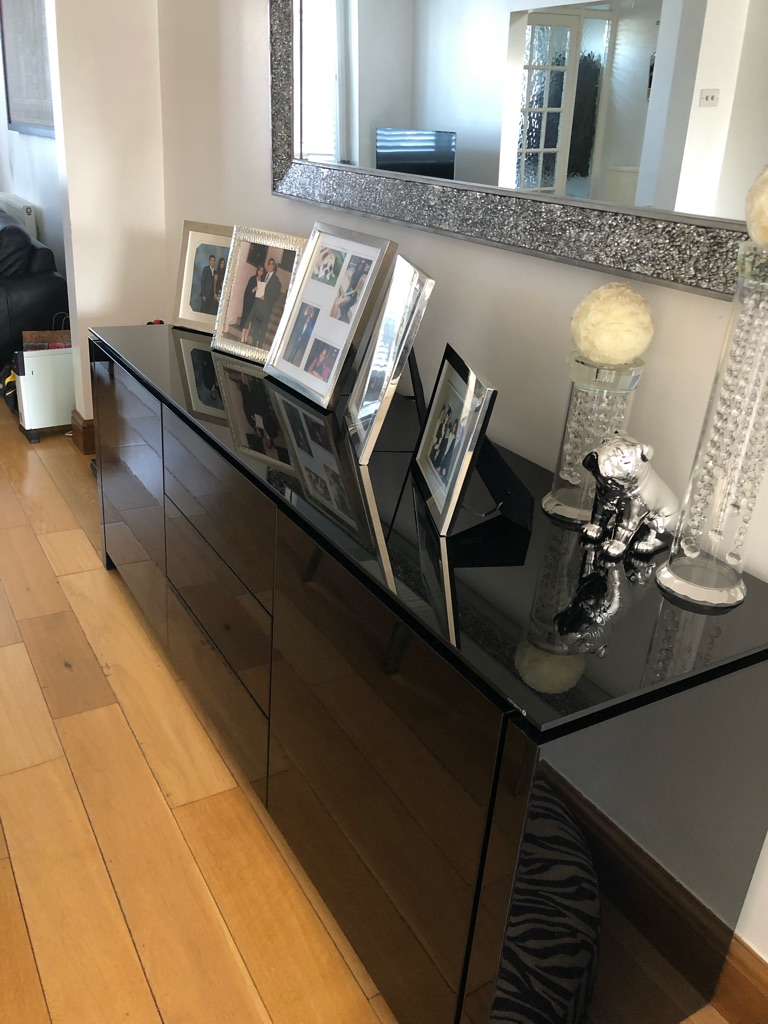 Calligari table chairs and wall unit