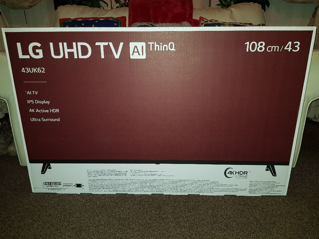 LG 43inch smart TV. Ultra4K