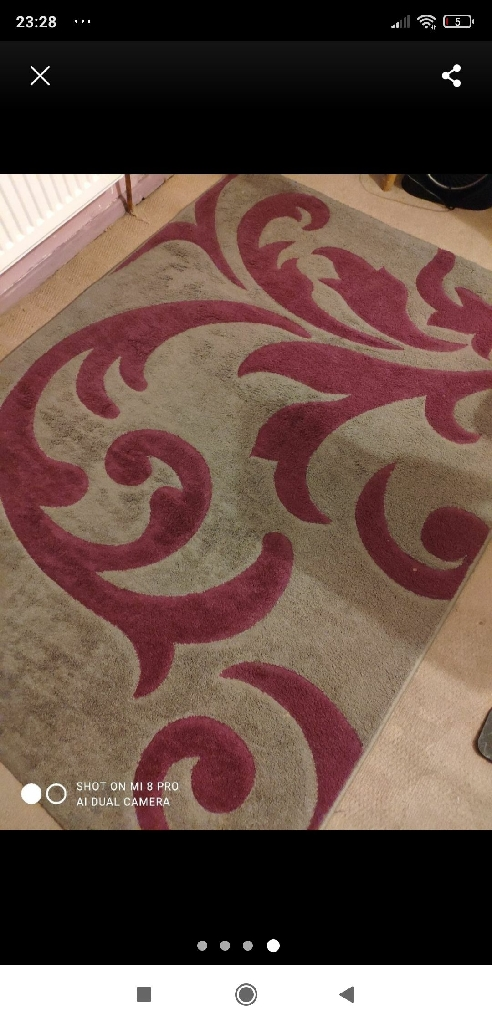 Rug Glamour in excellent condition 120x 160cm