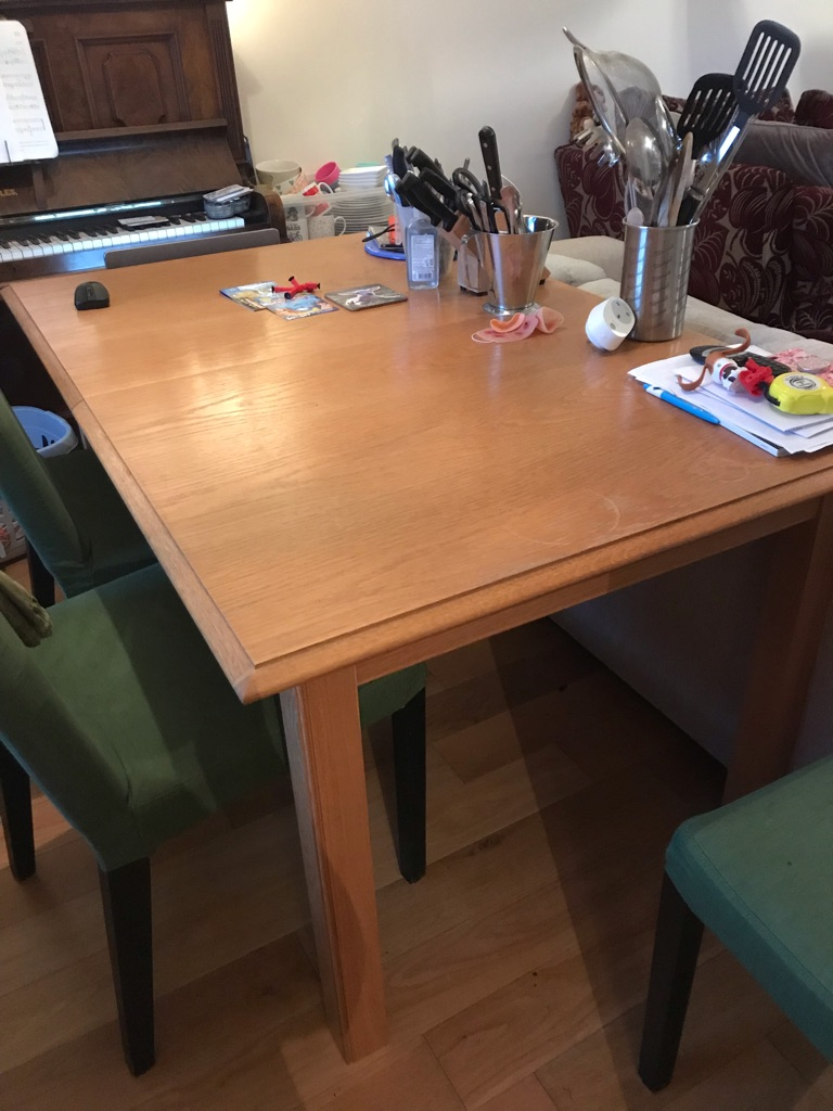 Dinning table and 6 chairs from M&S